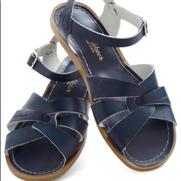 6637a8ca2c803 Navy blue Saltwater sandals sling back women 10. M_5b25826afe5151e8db4a9090